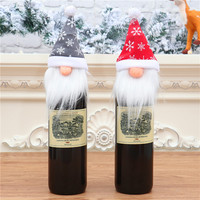 Christmas Faceless Gnome Santa Doll Hanging Ornaments Holiday Decorations Christmas Pendants Wine Bottle Cover Gift Bag Dress Up
