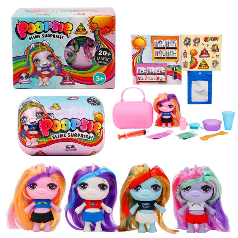 Squeezing Unicorn Jar Sparkle Splitter Poopsie Slime Unicorne Soft Relief Stress Kids Toys Birthday Funny Gifts