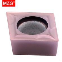 Mzg 10 pces ccmt 09t304 09t308 zp152cutting carboneto cermet inserção para torneamento de aço inoxidável processamento chato sclc toolholder