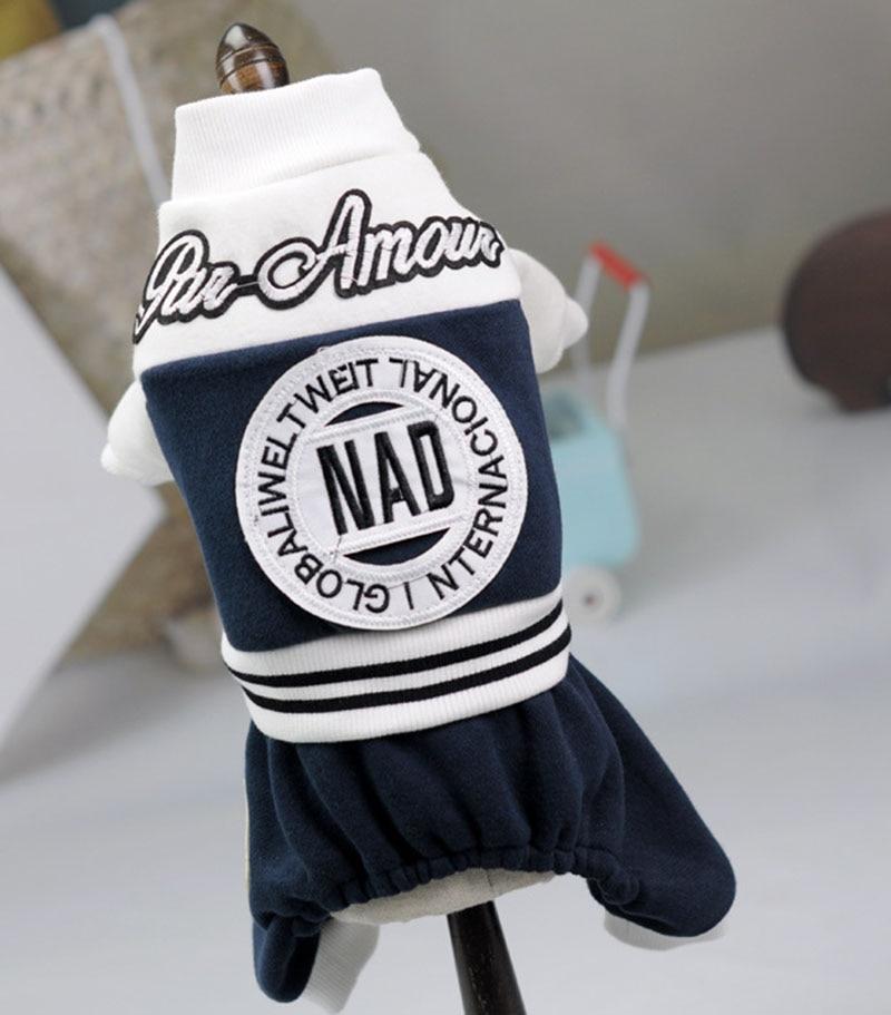 Leisure Pet Dog Hoodie Coat Cat Puppy Fleece Jumpsuit Letters Design Winter Warm Clothing Apparel
