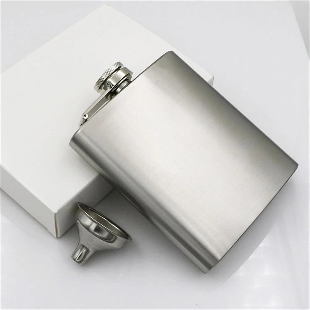 Hip Flask Stainless Steel Portable Travel Flagon Wine Whisky Pot Liquor Bottle