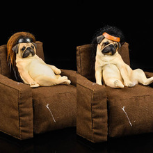 JXK Studio JXK025 1/6 Cute Decadent Dog Pug with Hair Cover Statue Animal Pet And Sofa Collectible Toy Model