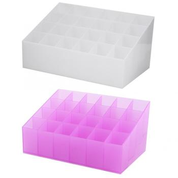 24 Grid Acrylic Transparent Makeup Organizer to store Lipstick and Nail Polish along with Other Skin Care Products of Women
