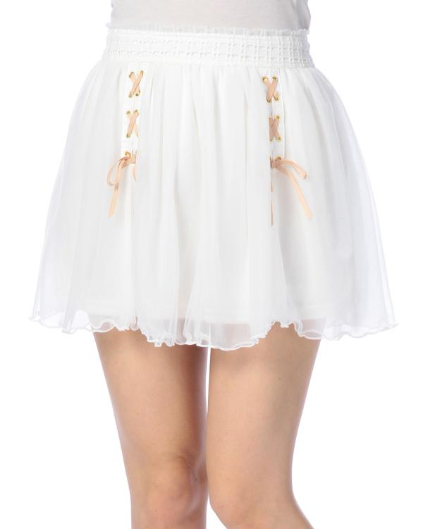 LIZ LISA Double Layer Chiffon  And Short Fairy Skirt With Double Straps At Waist