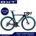 BXT дорожный велосипед 700C карбоновый дорожный велосипед 2*11 скоростной гоночный велосипед двойной дисковый тормоз T800 карбоновая рама + вилка ...
