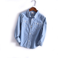Shirts for Boys 2019 Kid Long Sleeve Tops Jeans Shirt Spring Child Clothes Denim Shirt Boy Casual Blouse Dropshipping Clothing