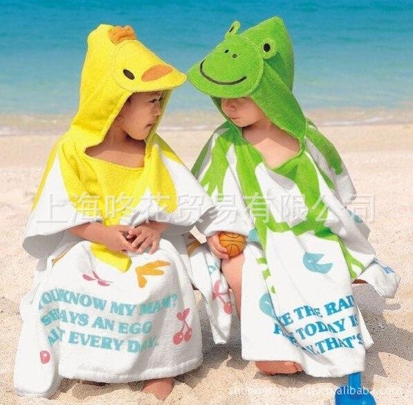 4-Orders Exported To Japan CHILDREN'S Cartoon Modeling Bathrobe South Korea Style Bath Towel Baby Bathrobe