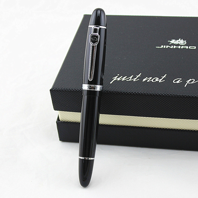High Quality Luxury JINHAO 159 Fountain Pen Metal 0.5MM Medium Nib Ink Pens Business School Office Supplies Canetas image