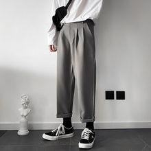Повседневные мужские брюки 2020 весной и летом новый сплошной цвет девять очков брюки молодой личность тенденция мужская одежда