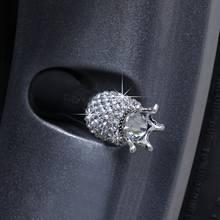 Crown 4Pcs Bling Diamant Kristall Rad Caps Strass ABS Auto Reifen Ventile Reifen Stem Luft Ventil Kappen Luftdichten Abdeckung