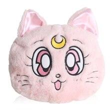 New Winter Anime Sailor Moon Luna Cat Plush Should Bag Cosplay Women's Round Plush Cartoon Rabbit Bag Messenger Bag