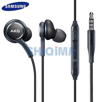 Para Samsung auricular AKG Original de 3,5mm USB tipo C Nota 10 9 8 7 Plus S10 S9 s8 Lite A70 A50 A80