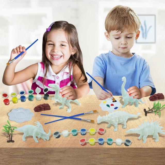 DIY Coloring 3D Painting Animal Dinosaur Model Drawing Graffiti Toy Set 2