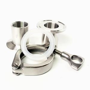 """Image 4 - 1 компл. 1/2 """"DN15 нержавеющая сталь SS304 санитарный внутренний резьбовой наконечник OD 50,5 мм + три зажима + прокладка"""