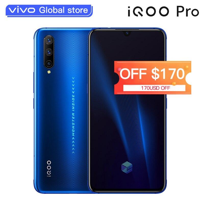 Vivo iqoo pro smartphone snapdragon 855 plus ui super amoled 12 gb 128 gb 48mp 3 câmera traseira 4500 mah 44 w telefones celulares celulares celulares