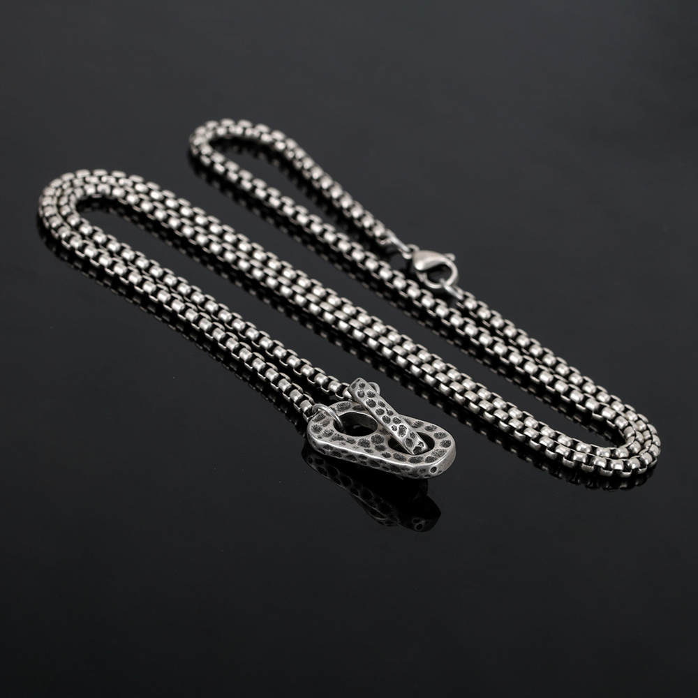 BOFEE Punk Stainless Steel Necklace Pendant Vintage Link Chain Choker Hip Pop Cool Male Female Fashion Jewelry Gift Women Men in Pendants from Jewelry Accessories