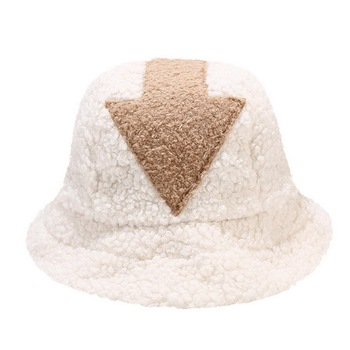 New Fashion Hip Hop White Lamb Wool Gorros Fishing Caps Faux Fur Bucket Hats Women Winter image