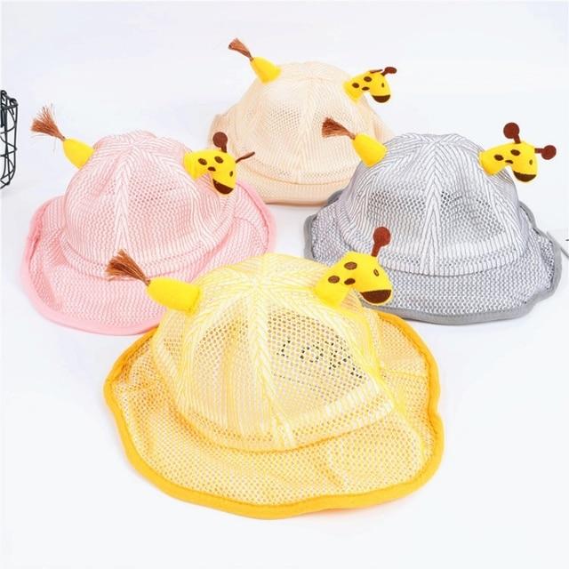 Children's Protective Hat Exquisite Handmade Straw Sun Hat Anti-fog Anti-saliva Korean Fisherman Hat (removable Face Mask) 1