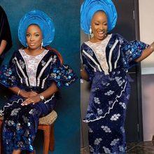 SJD dantel 2020 afrika dantel kumaş taşlar ile nijeryalı kadife dantel kumaş nakış renkli Sequins düğün parti SewingA2012