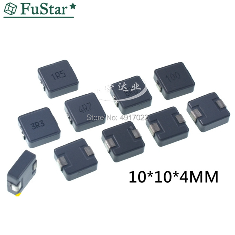 10pcs 1040 1.5UH/1R5 SMT Power Inductor Choke Coils (10*10*4) 101040 2.2UH 3.3UH 10UH 15UH 22UH 33UH 47UH 1R0 2R2 4R7 220 470
