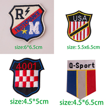 U S  ,French Army Banner Shield Iron On Patch Embroidered Applique Sewing Clothes Stickers Garment Apparel Accessories Badges