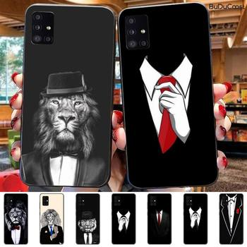 Cool black Man suit White Shirt Tie Phone Case For Samsung Galaxy A70 A50 A30 A10 image