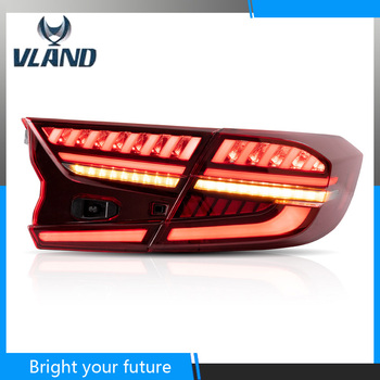 Car Rear Lights for Honda Accord 10th LED Tail Lights Assembly 2016-2018 Tail Lamp Turn Reverse Lamp