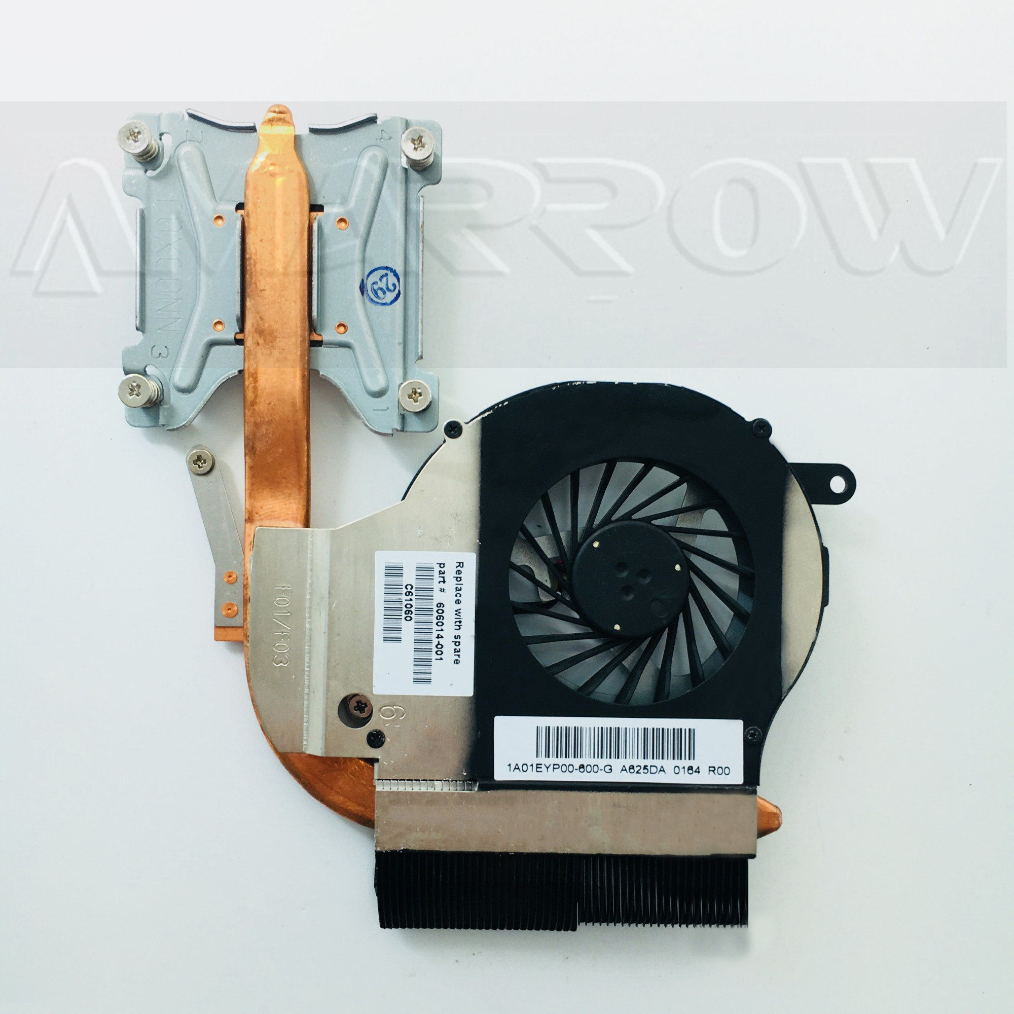 Original Free Shipping For HP Pavilion CQ62 G62 G62-B35SG G72 Fan And Independent Thermal Module 606014-001 1A01EYP00-600-G