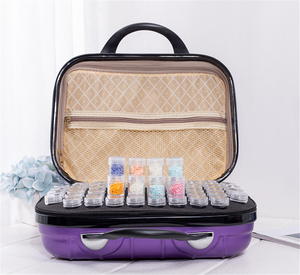 Image 2 - HUACAN New 132 Bottles Diamond Painting Storage Box Tool Diamond Embroidery Accessories Hand Bag Zipper Container
