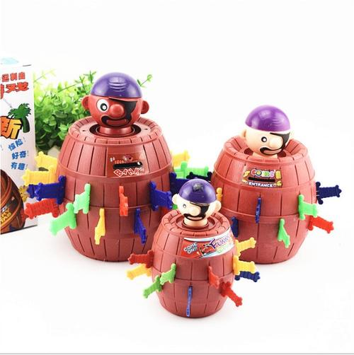 Pirate Bucket Sword Game 3D Puzzle Party Games Funny Toy Children Pirates Game Decompression Tricky Barrel Plug