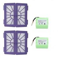 Substituição do filtro com bateria para neato xv11 xv12 xv14 xv15 xv21 vácuo cleane