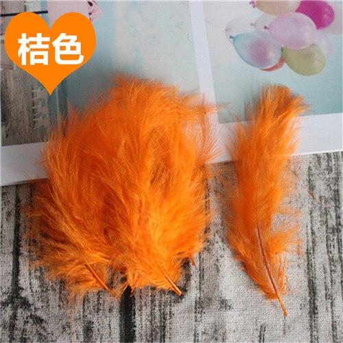 Натуральные Шлейфы 50 шт. 4-6 дюймов 10-15 см индейка перья марабу шлейф пышное свадебное платье DIY украшения аксессуары перья - Цвет: Orange