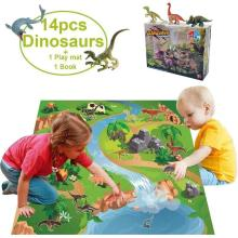Dinosaur Toy Figure With Play Mat Educational Realistic Dinosaur Play Set Dinosaur Toys Set Perfect Gifts For Kids Boys Girls