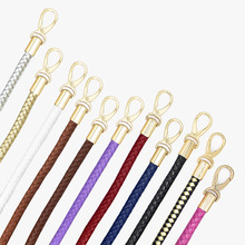 Leather Bag Handles Handmade Braided Rope Detachable Shoulder Bags Strap Replacement Handbag for DIY Accessories Part 1Pair leather strip handmade diy detachable bag strap handles belts accessories for handbag crossbody shoulder bags replacement 5m