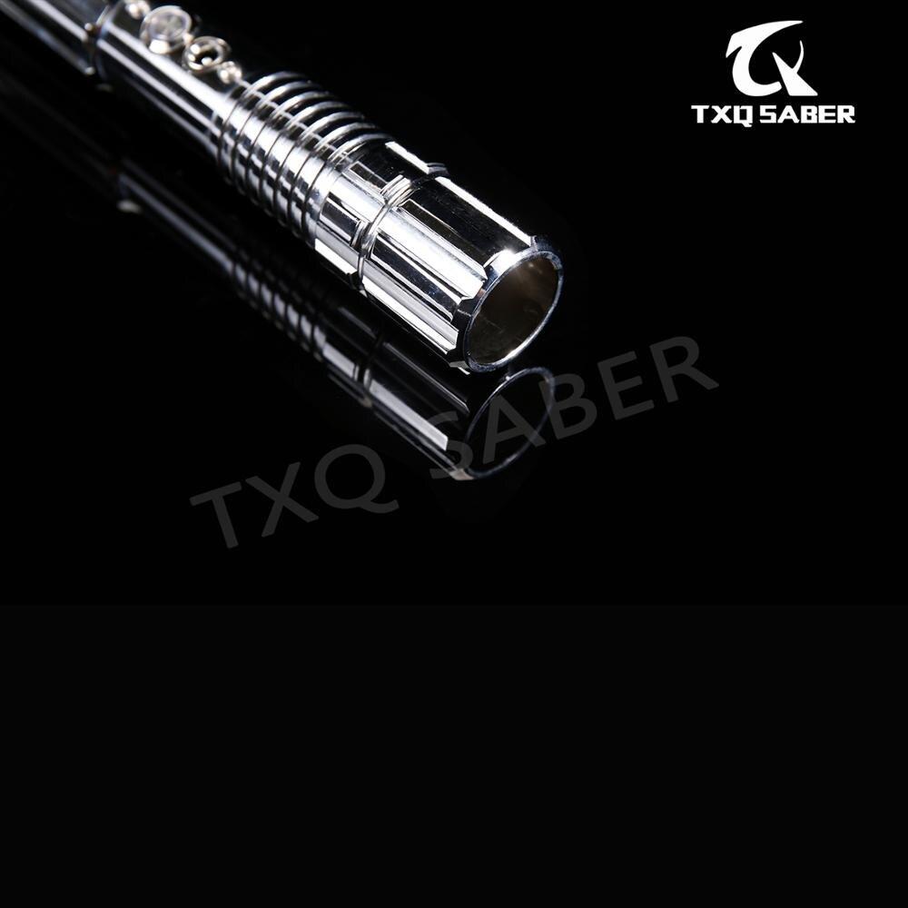 ¡Nuevo! Sable de luz TXQsaber RGB, sable de luz Force FX con 6 sets de fuentes de sonido y LED, hoja de Dueling de 1 pulgada 82cm, juguete de FOC con mango de Metal - 4