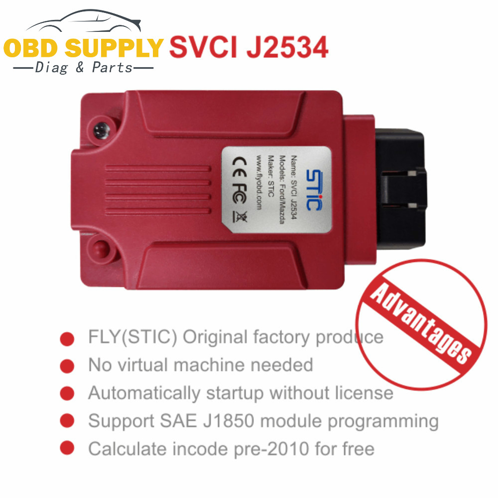 2019 najnowsze narzędzie diagnostyczne SVCI J2534 dla mazdy dla Ford IDS dla VCM lepsze niż ELS27 ELM327 VCM2 SVCI J2534 promocja