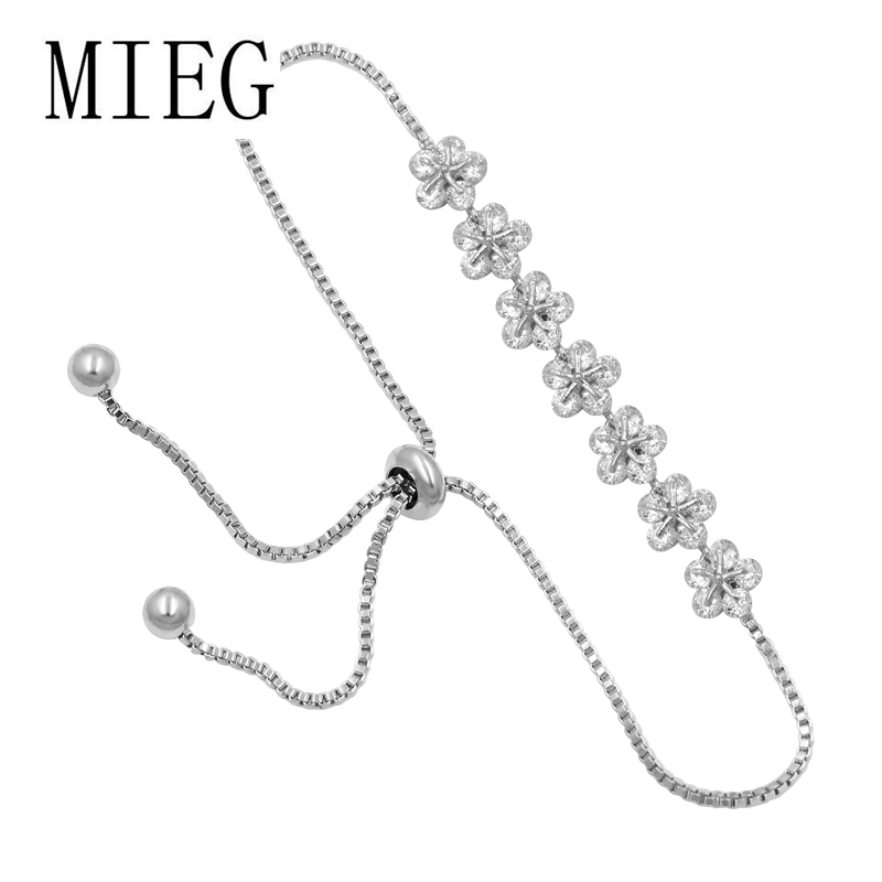 Jewelry Sterling Silver Rhodium-Plated CZ Leaf Chain Slide