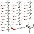 25 шт. 100 мм крюки для Pegboard планка для розничной торговли витрина для магазина крючок-Вешалка хромированная металлическая 1-1 5 кг