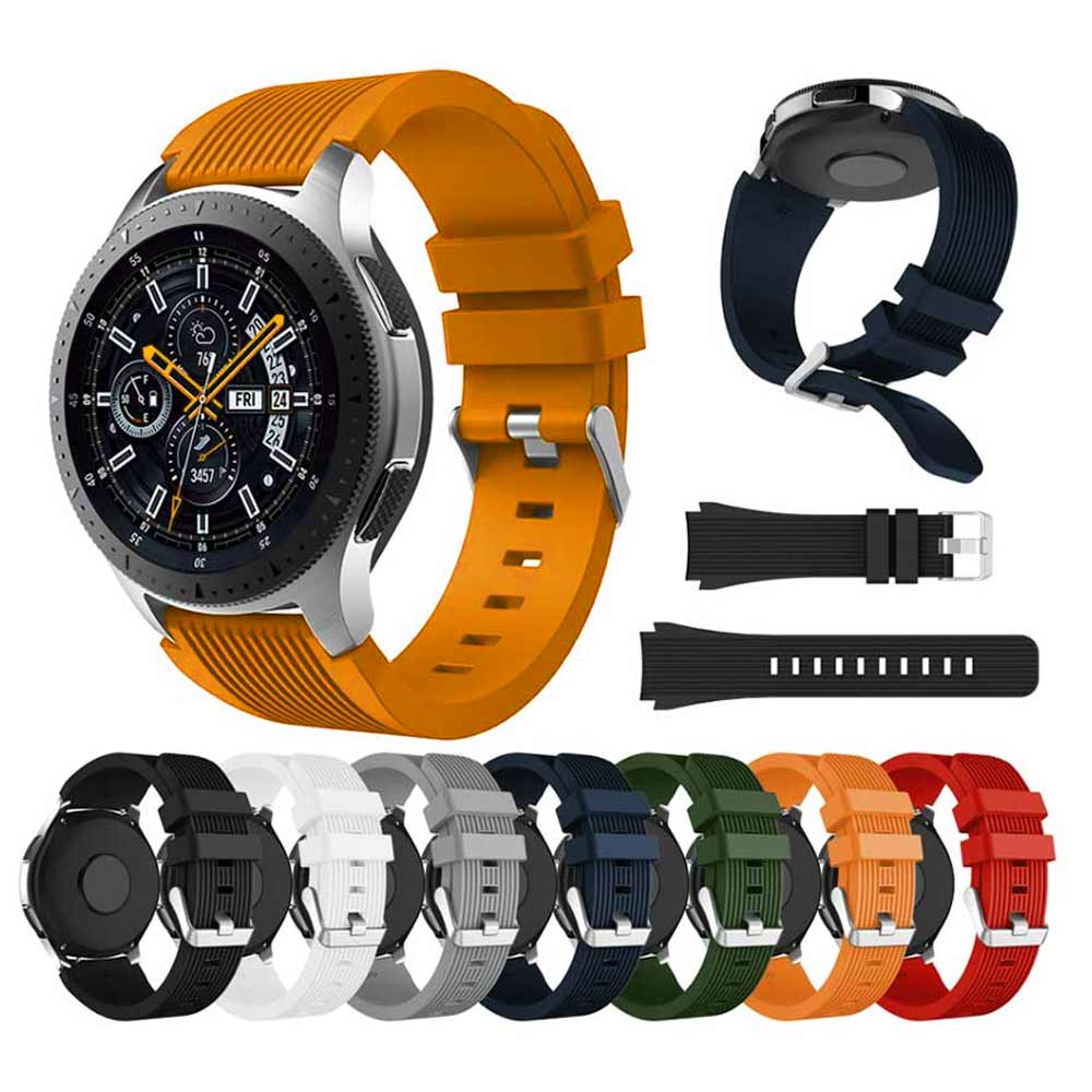 22mm Soft Silicone Watch Band Strap For Samsung Galaxy Watch 46mm Gear S3 Frontier TicWatch Pro Sport Bracelet Smart Accessories