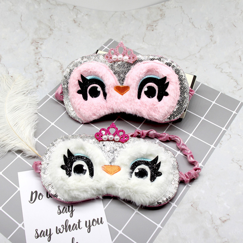 1PC Owl Cartoon Sleeping Mask Eye Shade Cover Patch For Girl Kid Teen Blindfold Travel Makeup Eye Care Tools Night Accessories