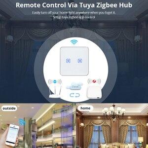 Image 5 - Tuya ZigBee ZigBee Interruttore Senza Neutro di Lavoro con TuYa Hub Autoadesivo Dellinterruttore di Tocco di Vita Intelligente App di Controllo Alimentato da tuYa