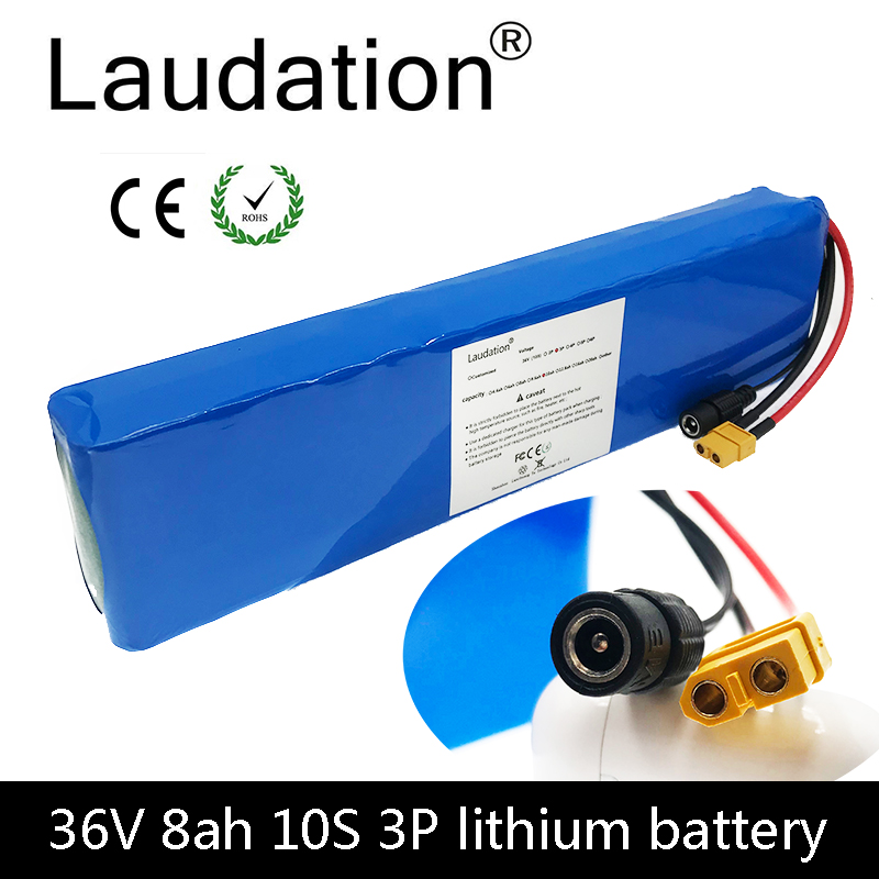 laudation 36V 8ah electric bicycle battery 18650 battery pack 10S3P 500W High Power and Capacity Motorcycle Scooter with BMS