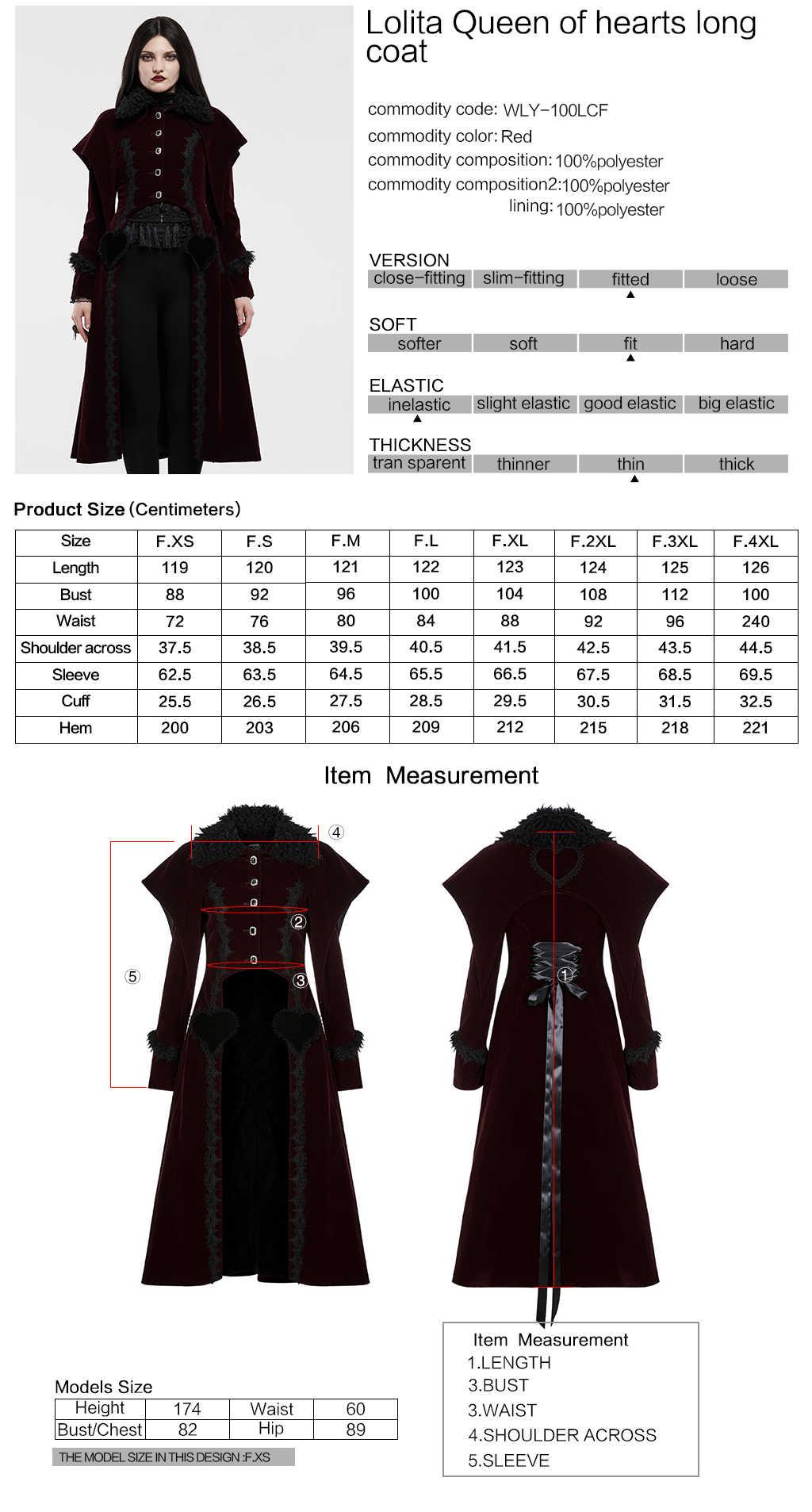 Женская винтажная длинная куртка «Королева сердец» «Виктория готика» в стиле «Лолита» со съемным меховым воротником, вечерние платья