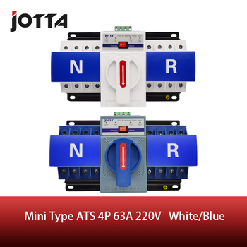 JOTTA 3P/4P 63A 220V 380V ATS MCB type Dual Power Automatic Transfer Switch Change Over Switch free shipping geya w2r mini ats 4p automatic transfer switch controller electrical type ats max 100a 4pole