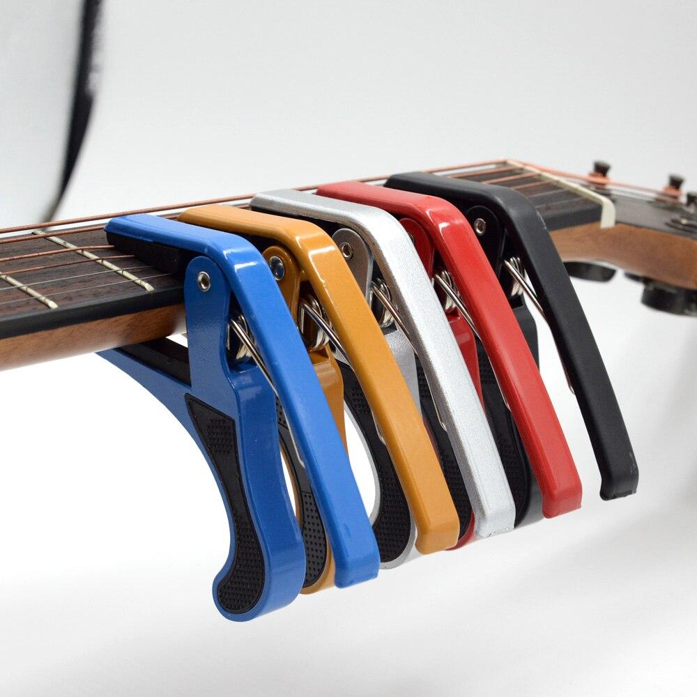 Universal Guitar Capo Aluminum Alloy Metal Folk Quick Change Clamp Key Acoustic Classic Guitar Ukulele Accessories Trigger Capo
