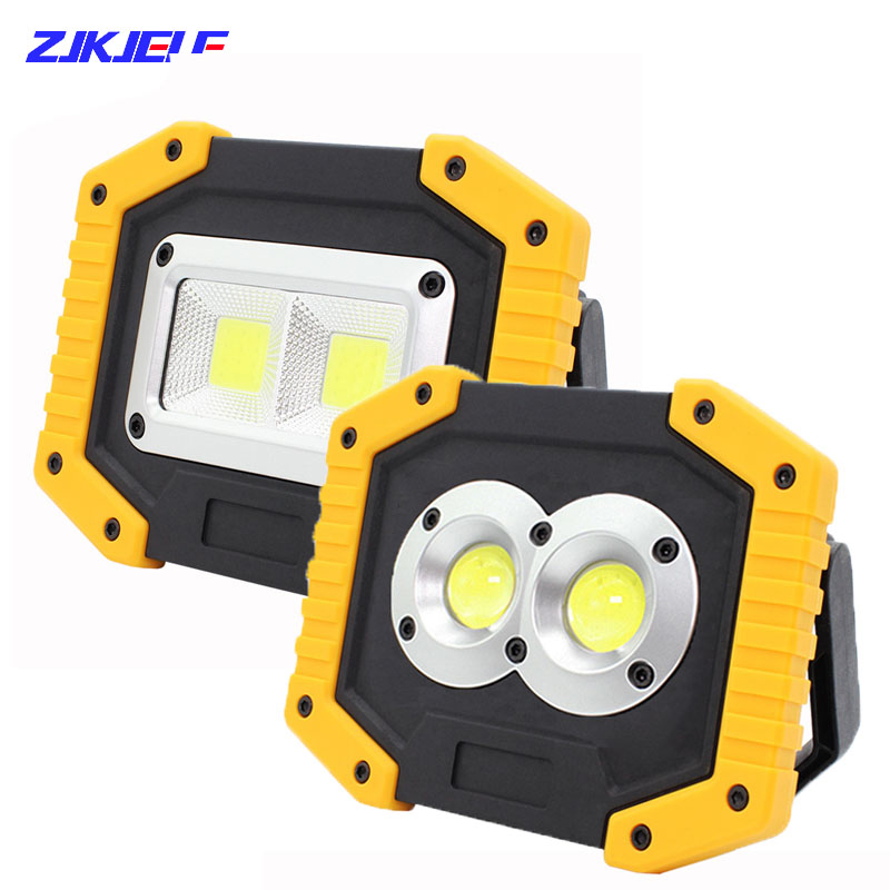 COB 30W 1500LM LED Work Light Rechargeable Portable Waterproof Flood Lights for Outdoor Hiking Camping Emergency Car Repairing