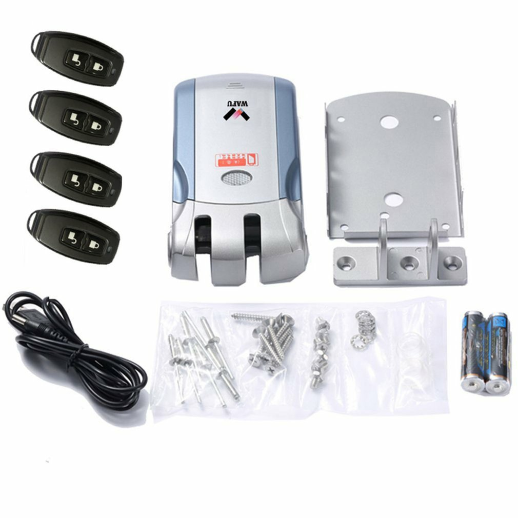 Wireless Electronic Door Lock Keyless Invisible Intelligent Lock 433mHZ Controllers Phone APP Control