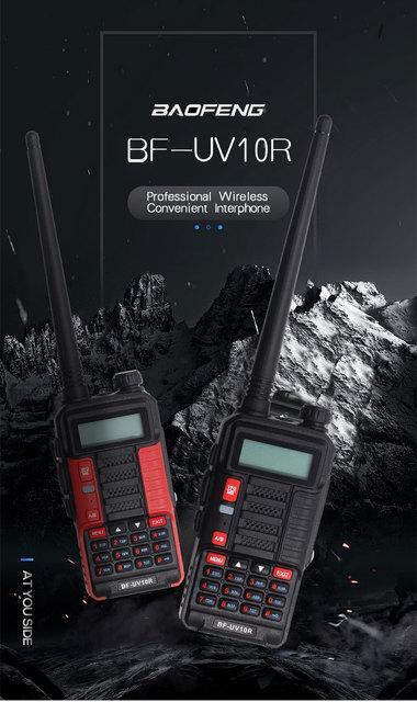 BaoFeng Walkie Talkie UV-10R Two Way 128CH VHF UHF Dual Band Transmitter Long Range 50km walkie-talkies Ham CB Radio Baofeng 10R