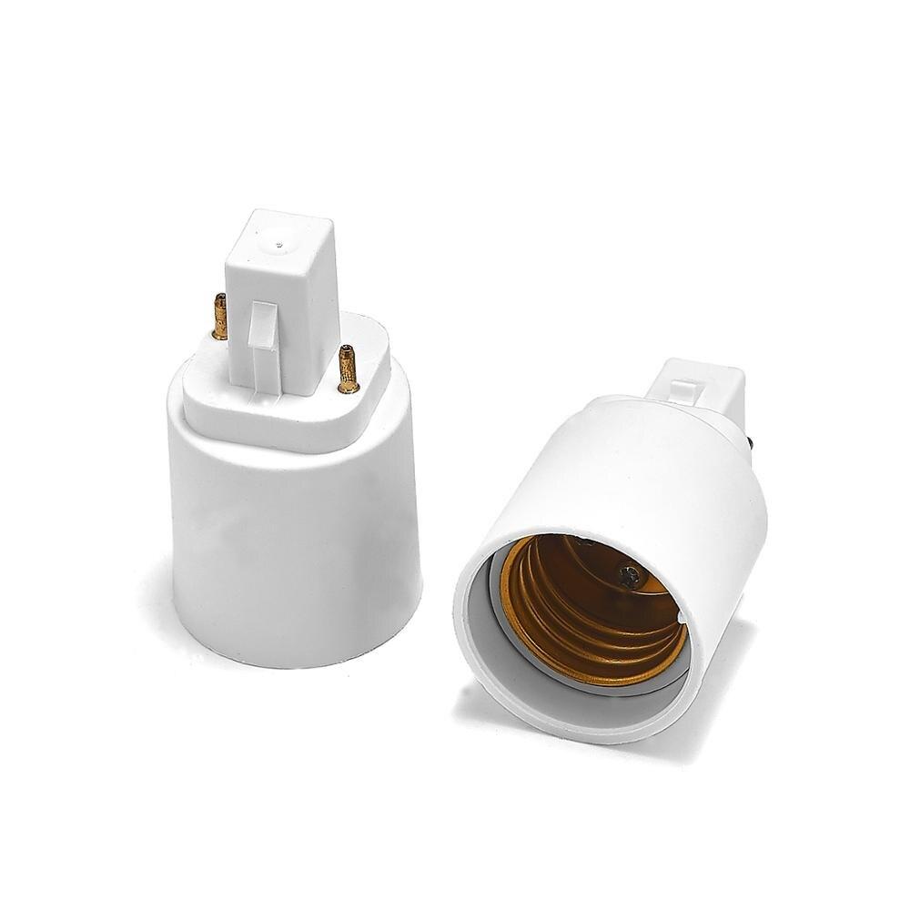 G24 To E27 Adapter G24 To E26 Lamp Holder Power Adapter Converter Base Socket LED Light Bulb Extend Extension Plug