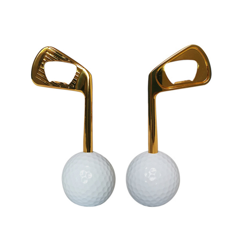 Golfer Beer Gift Novelty Item For The Golf Lover And Beer Enthusiast Golf Ball Bottle Opener Zinc Alloy  Golf Club Opener